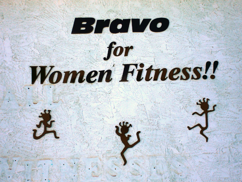 Bravo Womens Fitness Sign
